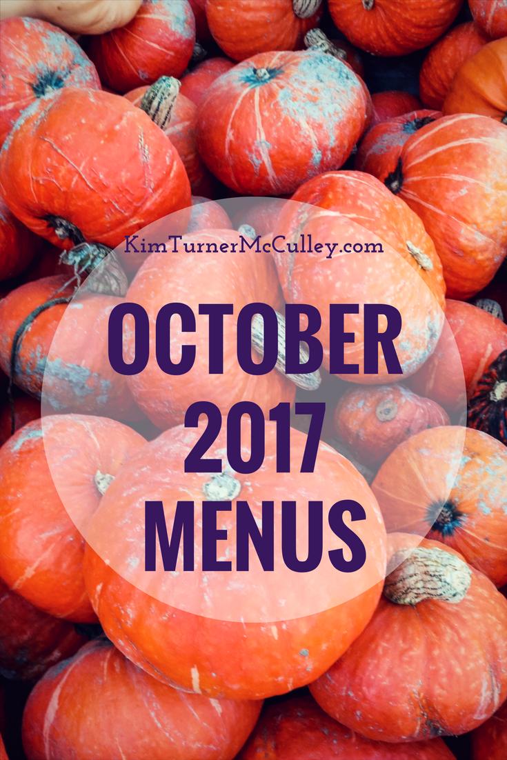 October 2017 Menus KimTurnerMcCulley.com