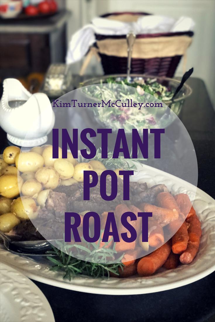 Instant Pot Roast Recipe and Tutorial KimTurnerMcCulley.com