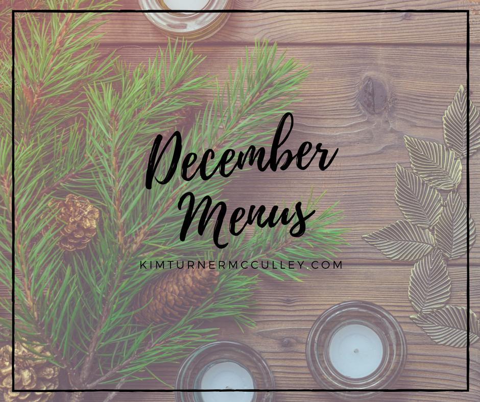 December Menus KimTurnerMcCulley.com