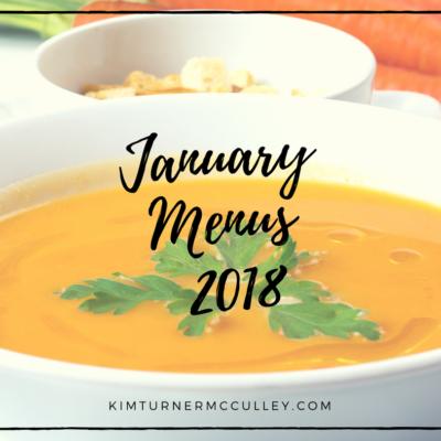 January Menus 2018