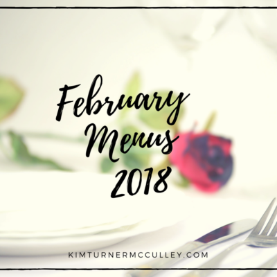 February Menus 2018
