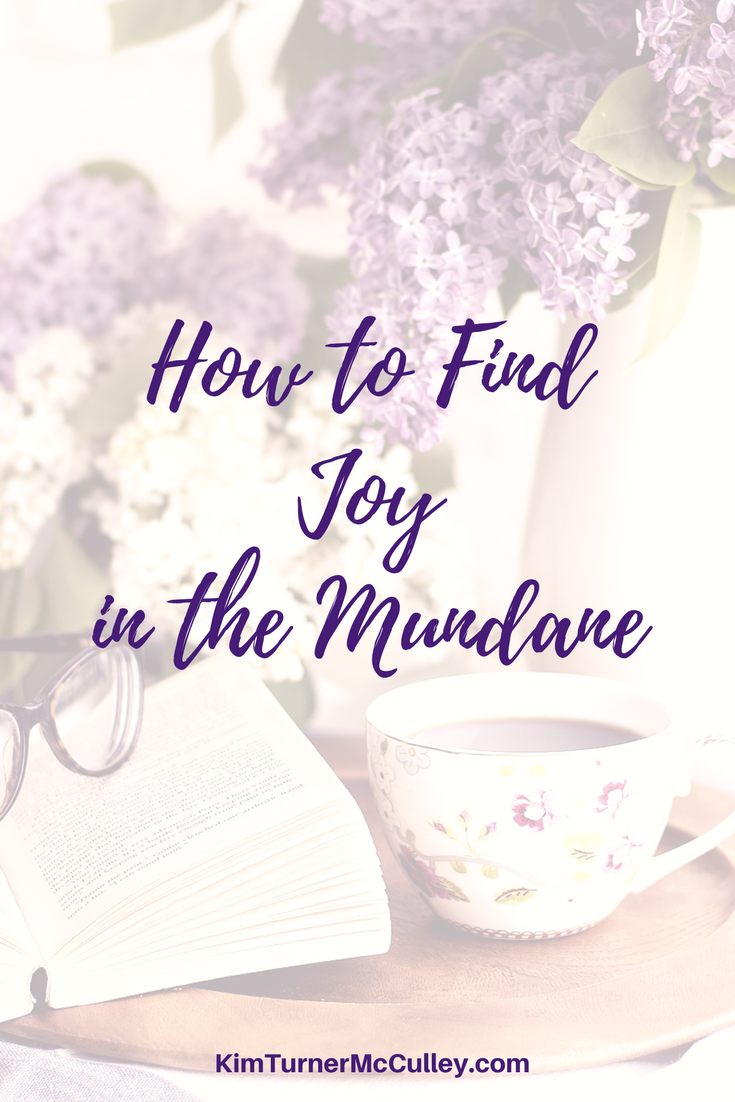 How to Find Joy in the Mundane KimTurnerMcCulley.com