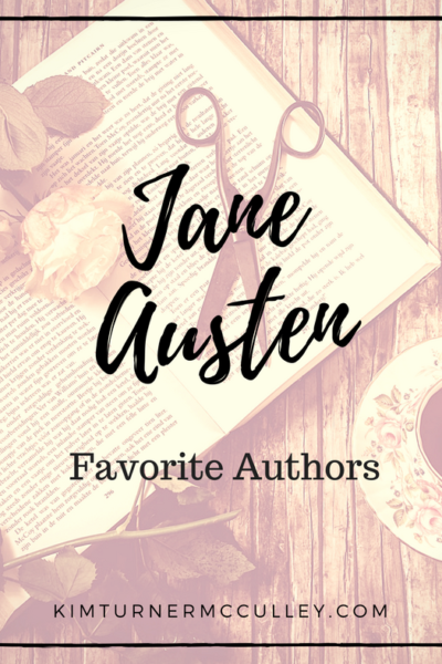 Jane Austen Favorite Authors KimTurnerMcCulley.com