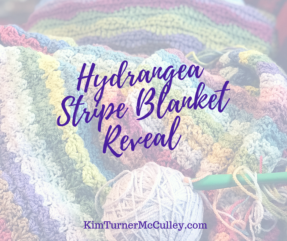 Hydrangea Stripe Blanket Reveal Kim Turner Mcculley